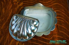 画像13: シルバー バターディッシュ シェル 貝殻 蓋付 (13)
