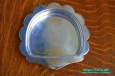 画像15: シルバー バターディッシュ シェル 貝殻 蓋付 (15)