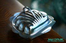 画像4: シルバー バターディッシュ シェル 貝殻 蓋付 (4)
