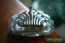 画像5: シルバー バターディッシュ シェル 貝殻 蓋付 (5)