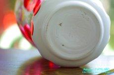 画像6: ボヘミアン 色被せ オーバーレイ クランベリー ガラス ベース 花瓶 花器 (6)