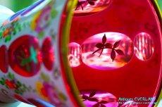 画像3: ボヘミアン 色被せ オーバーレイ クランベリー ガラス ベース 花瓶 花器 (3)