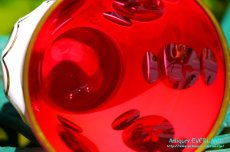 画像10: ボヘミアン 色被せ オーバーレイ クランベリー ガラス ベース 花瓶 花器 (10)