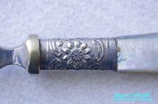 画像5: シルバー ジャムスプーン マザーオブパール 花籠 (5)