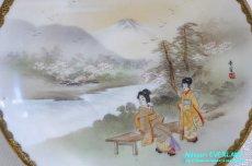 画像19: 神戸山手 寺岡 カップ&ソーサー ペア 卵殻焼 エッグ・シェル 明治 輸出 (19)