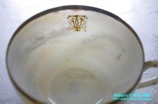 画像9: 神戸山手 寺岡 カップ&ソーサー ペア 卵殻焼 エッグ・シェル 明治 輸出 (9)