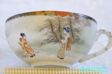 画像3: 神戸山手 寺岡 カップ&ソーサー ペア 卵殻焼 エッグ・シェル 明治 輸出 (3)