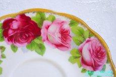 画像14: ロイヤル・アルバート ダブルソーサー Old English Rose オールド イングリッシュ ローズ (14)