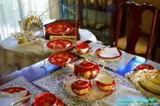 画像14: ご参考例>ウェッジウッド トンキン ルビーのテーブルセッティング (14)