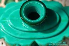 画像6: アールデコ ボヘミアン マラカイトガラス 香水瓶 パーフュームボトル (6)