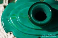 画像7: アールデコ ボヘミアン マラカイトガラス 香水瓶 パーフュームボトル (7)