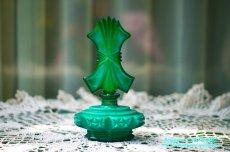 画像3: アールデコ ボヘミアン マラカイトガラス 香水瓶 パーフュームボトル (3)