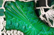 画像12: アールデコ ボヘミアン マラカイトガラス 香水瓶 パーフュームボトル (12)