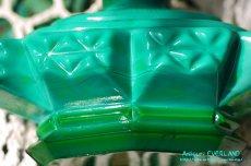 画像11: アールデコ ボヘミアン マラカイトガラス 香水瓶 パーフュームボトル (11)