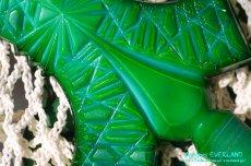 画像15: アールデコ ボヘミアン マラカイトガラス 香水瓶 パーフュームボトル (15)