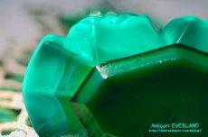 画像9: アールデコ ボヘミアン マラカイトガラス 香水瓶 パーフュームボトル (9)