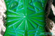 画像14: アールデコ ボヘミアン マラカイトガラス 香水瓶 パーフュームボトル (14)