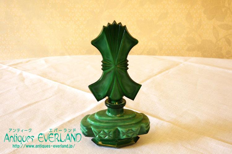 画像1: ボヘミアン マラカイトガラス 香水瓶 (1)