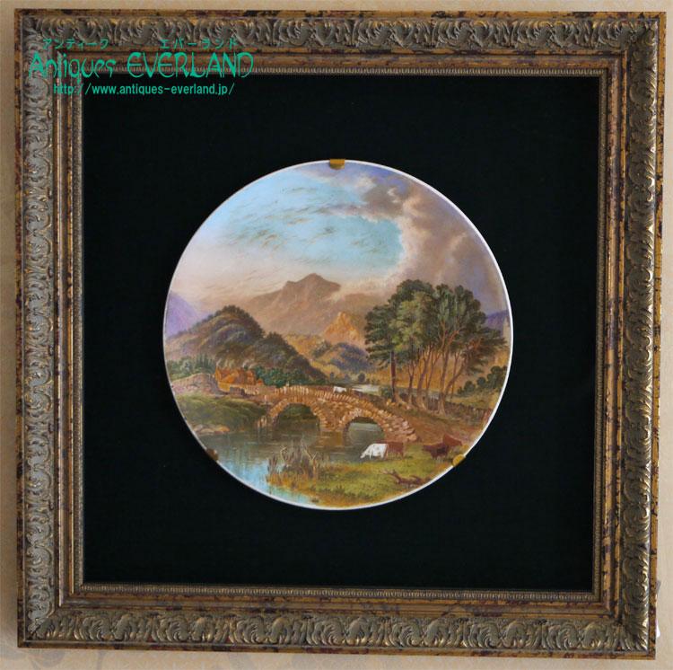 画像1: コールポート PATTERDALE BRIDGE WESTMORLAND Thomas Allom 飾り皿 (1)