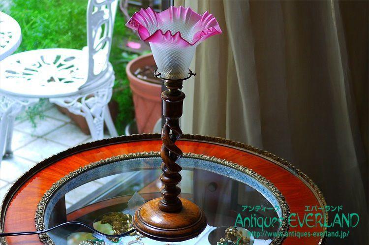 画像1: テーブルランプ ツイストステム クランベリーレッド (1)