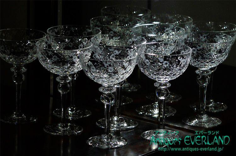 画像1: エングレービング・グラヴュール シャンパン グラス 6本 セット (1)