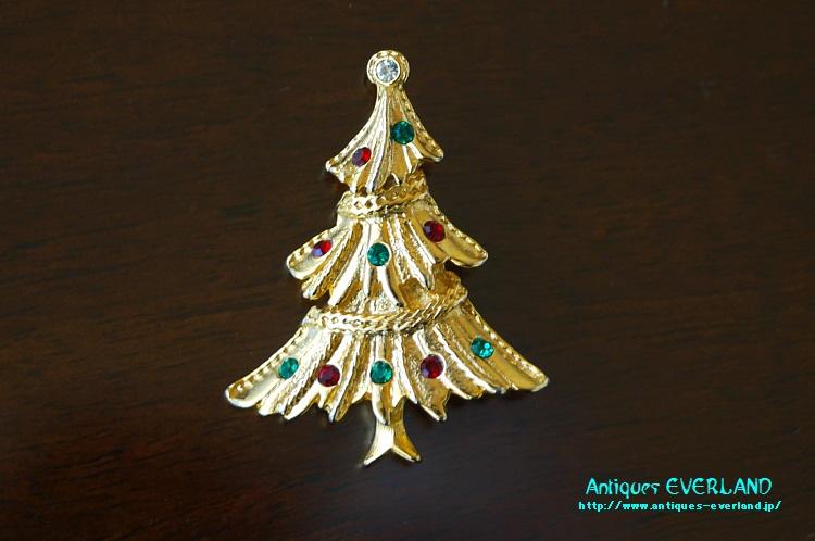 画像1: クリスマスツリー ブローチ (1)
