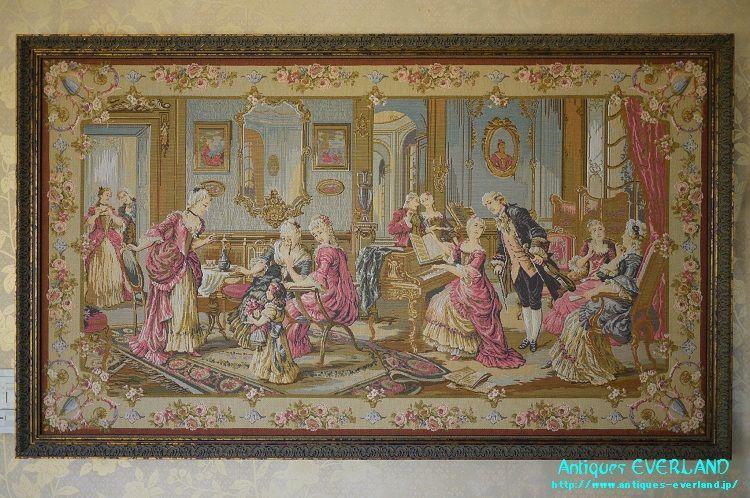 画像1: 【17世紀のサロン】 ゴブラン織額 小 (1)